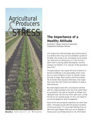 Agricultural Producers and Stress: The Importance of a Healthy ...