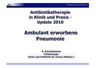 Ambulant erworbene Pneumonie - Universitätsklinikum Regensburg