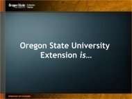 Oregon State University Extension is…