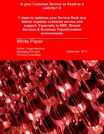 Download Complete White Paper - Chronos Consulting
