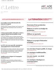 e.Lettre n°31 juillet-août 2011 (pdf) - Arcade PACA