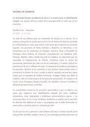 MEJORA DE BARRIOS La Generalitat destina 99 millones de euros ...