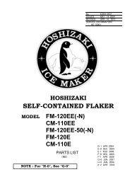 fm-120e cm-110e - Hoshizaki