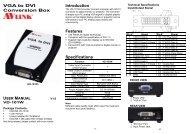 VGA to DVI Conversion Box Introduction ... - Avlinksystem.com