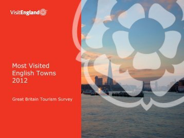 Most Visited English Towns 2012 - VisitEngland