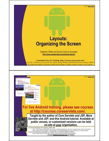 Layouts: Organizing the Screen - Custom Training Courses ...