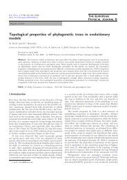 Topological properties of phylogenetic trees in evolutionary ... - CAB