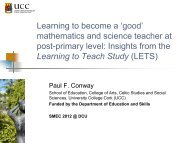 Routes to Teachers' Professional Development in Education ... - DCU