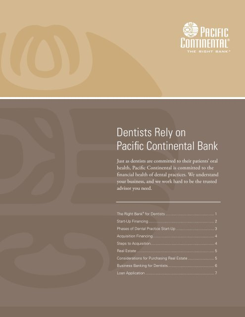 Dental-Practice Financing & Business-Cycle Review - Pacific ...