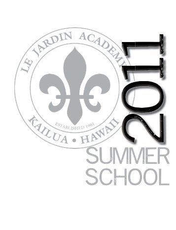 Course Catalog 2011.indd - Le Jardin Academy