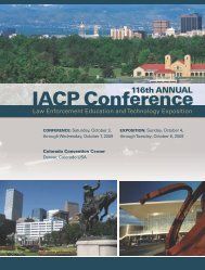 116th ANNUAL IACP Conference - Police Chief Magazine