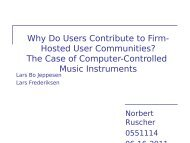 Firm-hosted Communities - Institute for Information Business