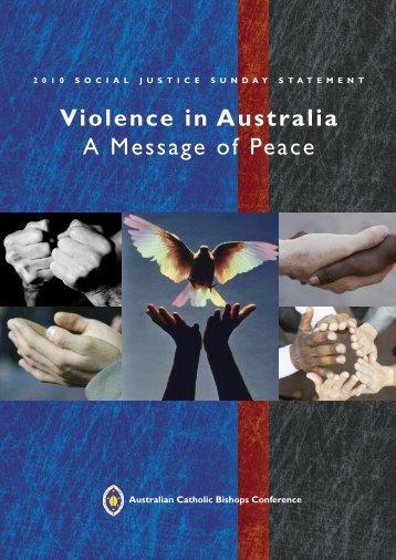 Violence in Australia A Message of Peace - Australian Catholic ...