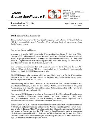 Verein Bremer Spediteure eV