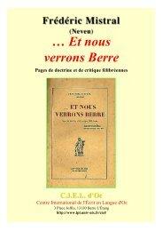 nous verrons Berre* - Aix-Marseille I