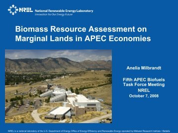 Study of Biofuel Resource Potential on Marginal ... - APEC Biofuels