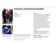 Connexus: A Communal Interface - Eric Paulos