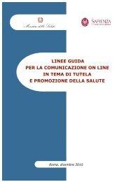 Linee guida per la comunicazione on line in - Ministero della Salute