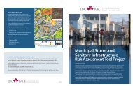 Municipal Storm and Sanitary Infrastructure Risk Assessment Tool ...