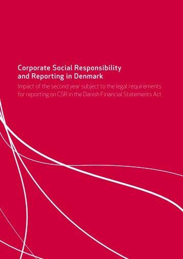 Corporate Social Responsibility and Reporting in ... - Samfundsansvar