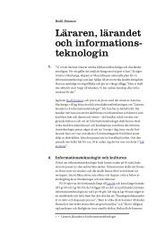 Textversion av föreläsningen - Certec - Lunds Tekniska Högskola