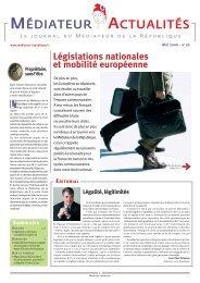 N°18 - Législations nationales et mobilité européenne