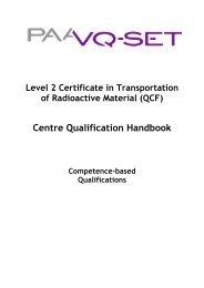 QCF Qual Handbook L2 Cert in T-RAM April 2010 - Ramtuc