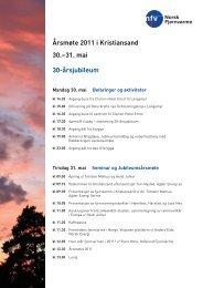 Årsmøte 2011 i Kristiansand 30.–31. mai 30 ... - Norsk Fjernvarme