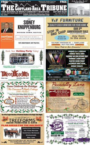 October 31 – November 13, 2012 - The Cortland Area Tribune