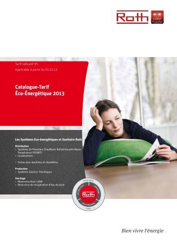 Catalogue-Tarif éco-énergétique 2013 - Roth France