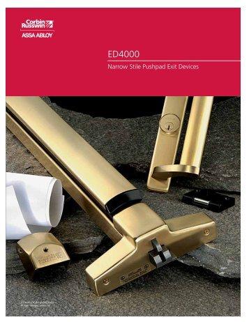 ED4000 Catalog - Corbin Russwin