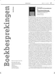Boekbesprekingen - Nieuw Archief voor Wiskunde