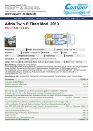 Adria Twin S Titan Mod. 2013 NEUFAHRZEUG - Bayern-Camper
