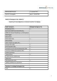 2012/027306 Notat om høringssvar vedr. udkast til