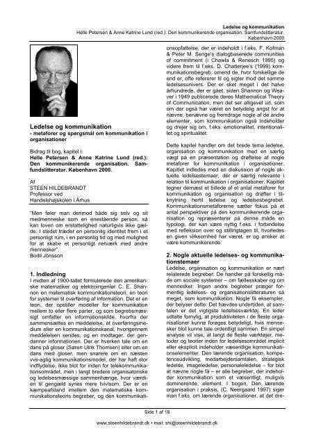 Ledelse og kommunikation - Anne Katrine Lund