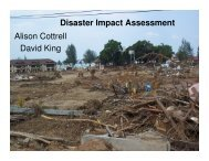 Social impact assessment for disasters - HazardsEducation.org
