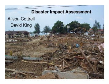 Social impact assessment for disasters - HazardsEducation.org