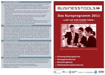 Das Kursprogramm 2011 - Business Tools