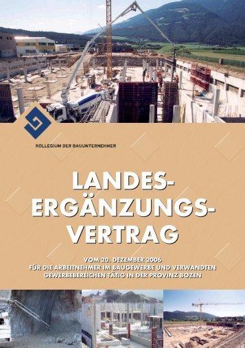 Landesergänzungsvertrag Industrie vom 20.12.2006 - Cassa Edile