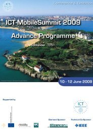 ICT-MobileSummit 2009 Advance Programme - Future Network ...