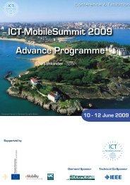 ICT-MobileSummit 2009 Advance Programme - Future Network ...