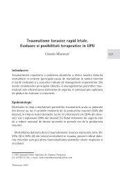 Traumatisme toracice rapid letale - Cursul national de ghiduri si ...