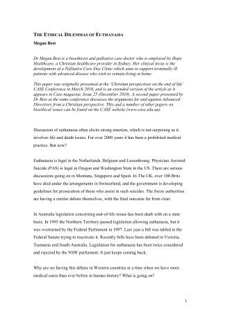 euthanasia immoral essay