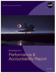 NASA's FY 2011 Performance and Accountability Report