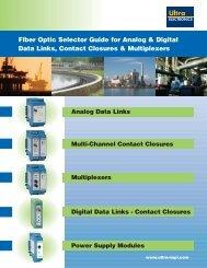 Digital Data Links Datasheet - SRP Control Systems