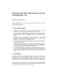 Potassium and Other Macrominerals for the Lactating Dairy Cow