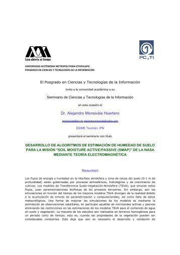 Dr. Alejandro Monsiváis Huertero - Posgrado en Ciencias y ...