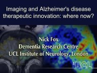 Imaging & Alzheimers Disease Therapeutic Innovation - Where Now