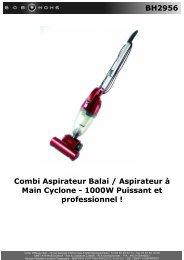 BH2956 Combi Aspirateur Balai / Aspirateur à Main ... - BOB HOME