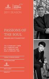 PASSIONS OF THE SOUL - Sydney Symphony Orchestra